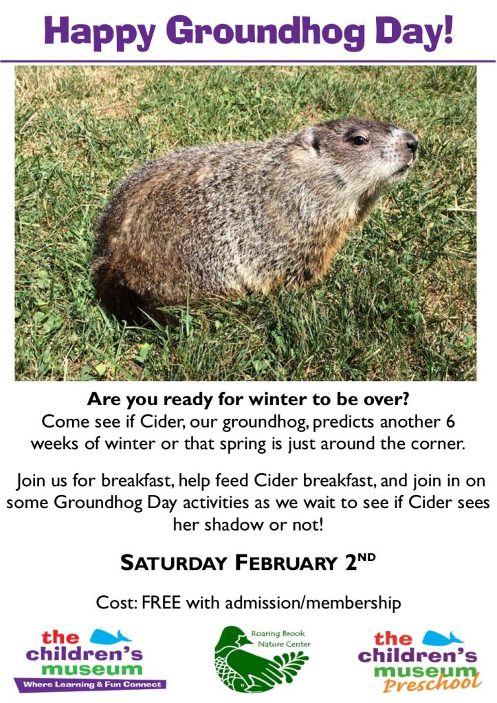 Groundhog Day Live @ The Children's Museum | West Hartford | Connecticut | United States